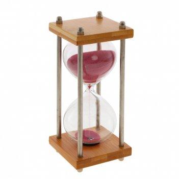 Часы песочные (15 мин 10 сек), l7 w7 h20 см