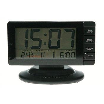 Электронная метеостанция 18*7*13см: часы, термометр, календарь, будильник