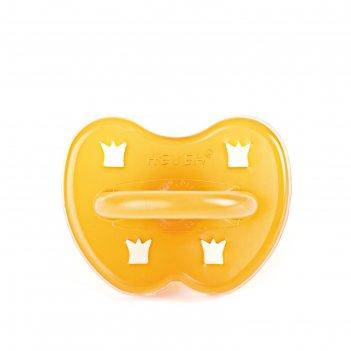 Пустышка ортодонтическая hevea crown round, от 0 до 3 мес.