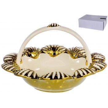 Корзинка сервировочная home art «shell» 20,2 см