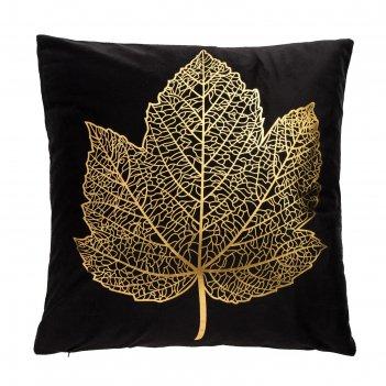 Наволочка декоративная этель листок 42 х 42 см, велюр