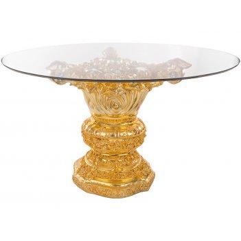 Стол интерьерный + стекло диаметр=130 см. высота=81 см. (кор=1шт.)