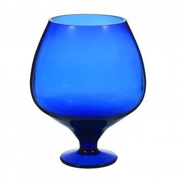 Ваза бокал синяя, 1,8 л