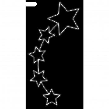 Светодиодная консоль звездопад, 1.5 х 0.75 м, led-шнур 6 м, 17 вт, металли