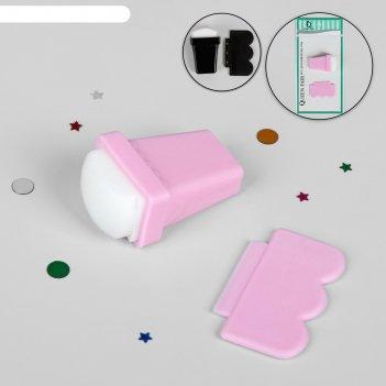 Набор для стемпинга, 2 предмета, цвет микс