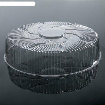 Тортница пр-т-265, крышка, 30х7,5 см, цвет прозрачный