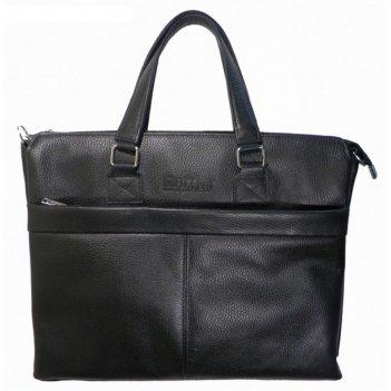 Сумка мужская, 40х6х30 см, отдел на молнии, наружный карман, цвет чёрный ф