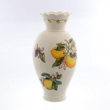 Ваза caroline artigianato лимоны 37см
