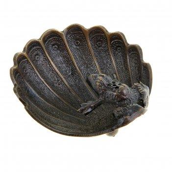 Подставка под благовония латунь лягушка 5,5х9,5х10,5 см