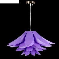 Люстра-подвес цветок лотоса, сиреневый