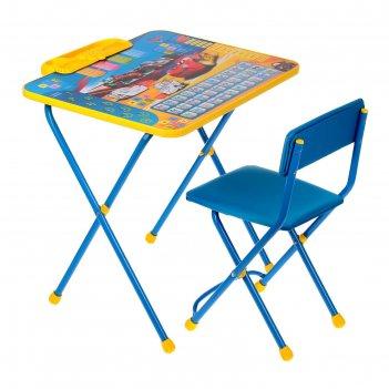 Набор детской мебели дисней 2: тачки складной: стол, мягкий моющийся стул