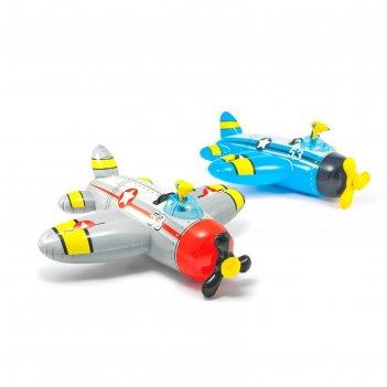 Надувная игрушка для плавания самолет 132х130 см, от 3-лет 57537 микс