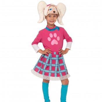 Костюм карнавальный роза серия барбоскины (маска, юбка, гетры, кофта) дет.