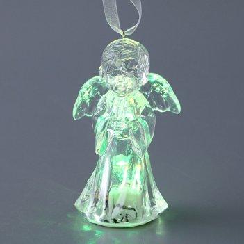 Фигурка ангелочек с подсветкой высота=9 см.