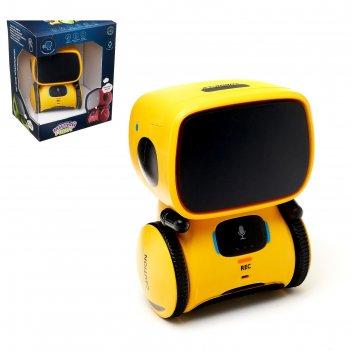 Робот интерактивный милый робот, световые и звуковые эффекты, цвет жёлтый