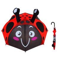 Зонт детский весёлая божья коровка с рожками, диаметр 74 см