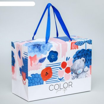Пакет-коробка color your life, me to you, 20 x 28 x 13 см