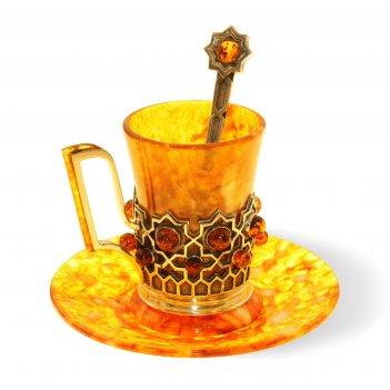 """Кофейная чашка """"визирь"""" из янтаря (на 6 персон)"""