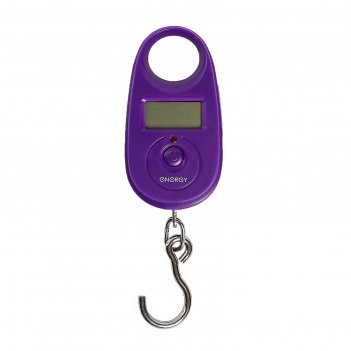 Весы электронные безмен nergy bez-150, фиолетовый, 25 кг