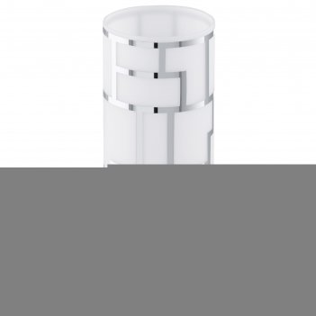 Настольная лампа bayman 1x60вт e27 белый 10,5x10,5x27см