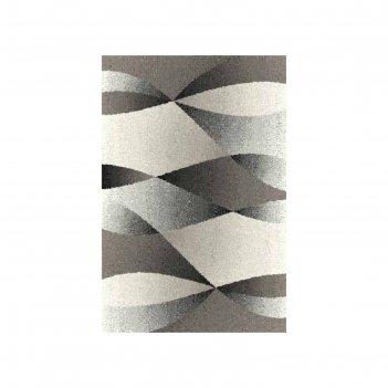 Прямоугольный ковёр platinum t636, 200 x 300 см, цвет gray