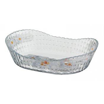 Блюдо для слоеных салатов ромашка длина=26 см.ши...