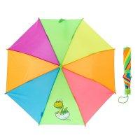 Зонт детский радуга, автоматический, r=47см, цвет микс