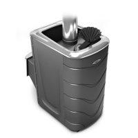 Печь для бани тмф гейзер 2014 carbon, нерж.дверца, закр.каменка, антрацит,
