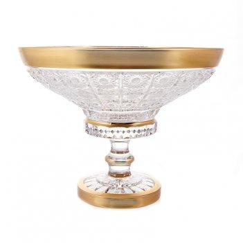 Ваза для конфет н/н 20,5см.cнежинка с золотом 60550