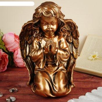 Статуэтка ангел большой молящийся, бронзовый