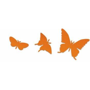 Дополнительные порхающие бабочки оранжевые 3 шт.