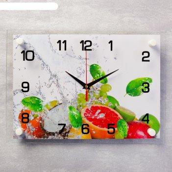 Часы настенные, серия: кухня, цитрусовые, 25х35  см, микс