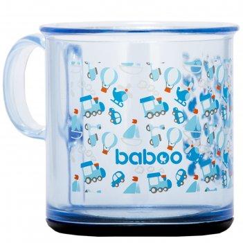 Чашка baboo  170 мл. с антискользящим дном  transport, 12 мес+