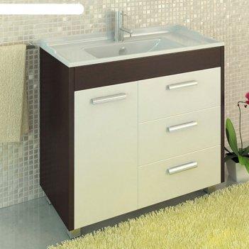 Тумба-умывальник для ванной барселона-90 85 х 91 х 46,8 см с раковиной com