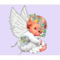 """Рисунок для вышивания бисером """"белый ангел"""""""