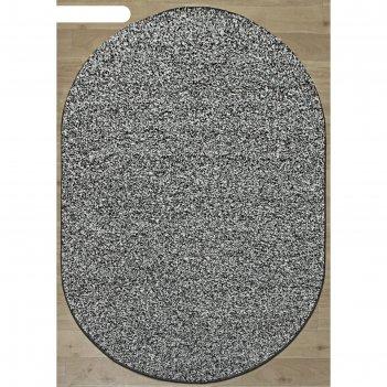 Овальный ковёр platinum t600, 150 x 400 см, цвет gray-multicolor