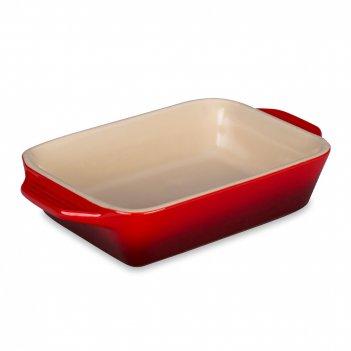 Форма для запекания, размер: 18 х 12 см, материал: керамика, цвет: красный