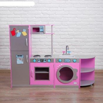 Игровой набор угловая кухня трансформер 30х140х101 см