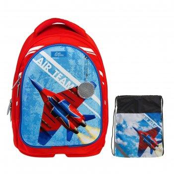 Рюкзак каркасный calligrata, 39 х 28 х 18 см, мешок для обуви, для мальчик