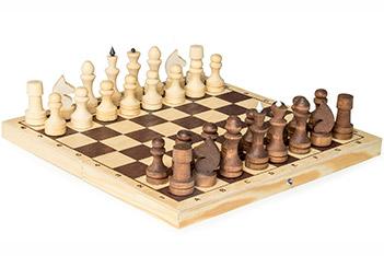 Шахматы обиходные парафинированные (29х14,5х3,8см) россия