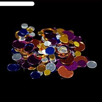 Камифубуки для декора ногтей, 1гр, цвет синий/серебристый/сиреневый
