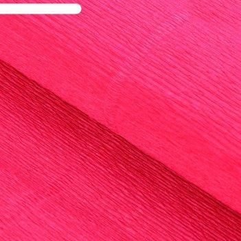 Бумага гофрированная, 951 ярко-розовая, 0,5 х 2,5 м