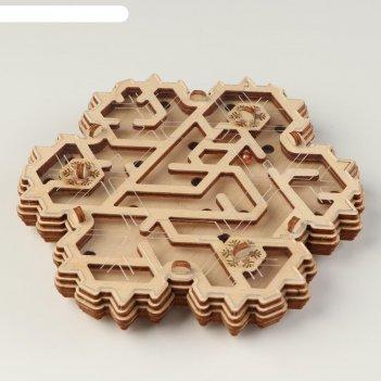 Деревянный конструктор-головоломка  снежный переполох
