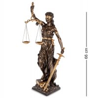 Ws-653/ 2 статуэтка фемида - богиня правосудия