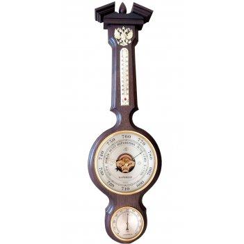 Бытовая метеостанция, бм-96 массив дуба (смич) герб рф, барометр