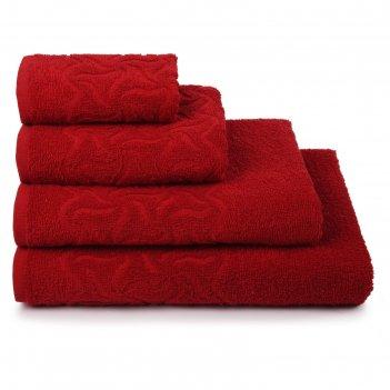 Полотенце махровое радуга пд-2601-04352 цв.19-1761 50х90 см, красный, хл.1