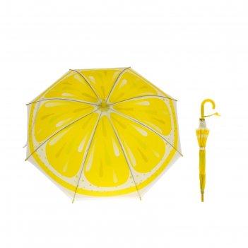 Зонт детский полуавтомат лимон, d=78см