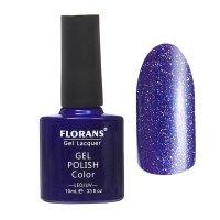 Гель-лак для ногтей фиолетовый с блестками 10253 florans