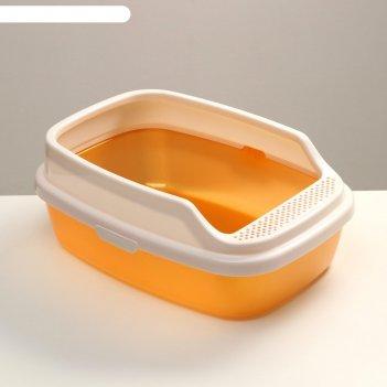 Туалет айша с бортом 53 х 39 х 21 см, золотой перламутр