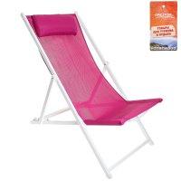 Кресло-шезлонг 134х60х100 см, цвет сиреневый